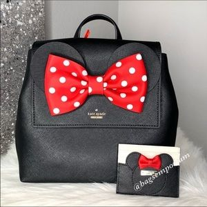 Kate Spade Minnie Mouse Disney Backpack 2pc Set